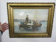 Beautiful Antique Watercolor Painting By M.e. Trotter -circa 1900 - A Must See