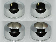 2 Open 2 Closed Weld Racing Wheels Rims Chrome Center Caps 8 Lug 4x4 Snap In