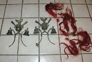 Important Pair Antique Victorian Americana Saddle Mount Sleigh Carriage Bells