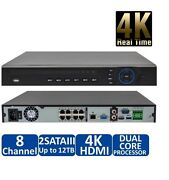 Dahua 4k Ip 8ch Nvr With Built-in 8port Poe, Support Ip Camera Up To 12mp