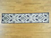 2and0397x12and0391 Handknotted Arts And Crafts William Morris Design Runner Rug G33053