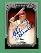 2013 Topps The Greats Mike Schmidt Auto 08/10 Phillies