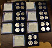 1976 Canada 5 And 10 Olympic Bu Silver 28 Coins Set B