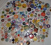 Huge Dealer Lot Of 400 Collectible Buttons Pin Backs Political Advertising More