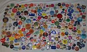Huge Dealer Lot Of 300 Collectible Buttons Pin Backs Political Advertising More