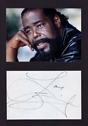 Barry White Music Legend Rare Amazing In Person Signed With Proof Coa