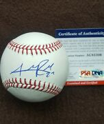Addison Russell Signed Official Major League Baseball Chicago Cubs Psa Ac85306