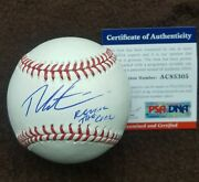 Theo Epstein Signed Official Major League Baseball Chicago Cubs Psa Ac85305 Rare