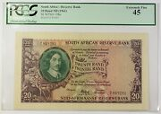 1961 No Date South Africa 20 Rand Reserve Bank Note Scwpm 108a Ef-45 A