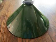 10 And 1/4 Industrial Green Metal Shade Fits 2 And 1/4 Uno Or Other Holders