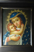 Virgin Of Belen Madonna And Child Oil Painting Cuzco School Spanish Coloni Sold
