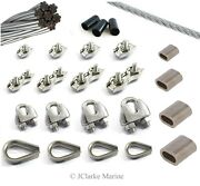 2mm 3mm 4mm 5mm Wire Rope Clamp Thimble Simplex Duplex 316 A4 Stainless Steel