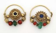 Ethnic Solar Symbol Design 20k Gold Nose Rings Or Earrings Afghanistan 1920and039s