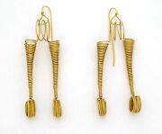 Tribal 22k Gold Wire Earrings From Rabari Tribes Gujarat North India 1970's