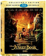 Disney Live Action Version Of The Jungle Book 2016 3d Blu-ray Dvd And Digital Copy