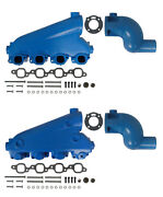 Barr Manifold Exhaust Kit For Crusader Big Block Gm End Style W/ 3 Elbows