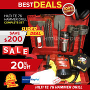 Hilti Te 76 Hammer Drill, Preowned, Free Coffee Mug, Bits And Chisels, Fast Ship