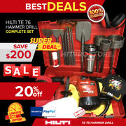 Hilti Te 76 Hammer Drill Preowned Free Coffee Mug Bits And Chisels Fast Ship