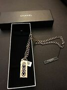 Cc Coco Medallion Pendent Charm Gold Chain Crystals Necklace