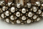 Old Ethnic Bracelet Silver On Cotton From Villages In Rural Rajasthan India 1950