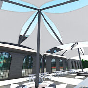 Sun Shade Sail Steel Wire Reinforced Edge Heavy Duty Canopy Awning Pool Uvblock