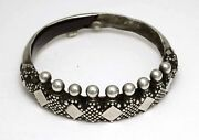 Rare Ethnic Silver Bracelet From Rural Villages In South India 1930and039s