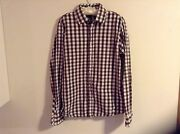 Scotch And Soda Sz L Menand039s Shirt W/logo On Back And Faux-pearl Snaps Rare Find