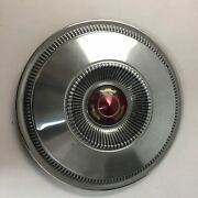 Vintage Ford Hubcap Wheel Cover Red Gold Crown 14 Hcfor18