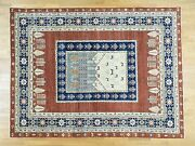 9and039x12and039 Pictorial Tree Design Pure Wool Hand Knotted Peshawar Rug G30362