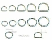 O And Dee D Ring Rings A4 316 Stainless Steel Polished Welded 15 20 25 30 40 50mm