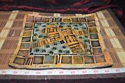 "Handmade Pottery Square Art Wall Plate Tray 9 1/4""x8 1/8 Signed D. Kaemming"