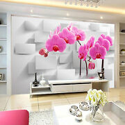 3d Pink Phalaenopsis Wall Paper Print Decal Wall Deco Indoor Wall Mural