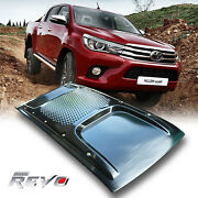 Black Bonnet Scoop Hood Cover For Toyota Hilux Revo Sr5 Rocco M70 M80 2015-2020
