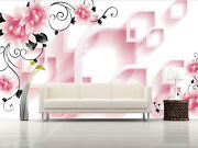3d Flowers Shape 4576 Wall Paper Wall Print Decal Wall Deco Indoor Wall Murals