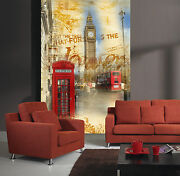 3d Red Phone Booth Wall Paper Wall Print Decal Wall Deco Indoor Wall Mural