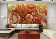 3d Flowers Jade 122 Wall Paper Wall Print Decal Wall Deco Indoor Wall Murals