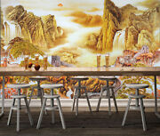 3d Yellow Mountain 233 Wall Paper Wall Print Decal Wall Deco Indoor Wall Murals