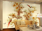 3d Rare Birds Flowers Wall Paper Wall Print Decal Wall Deco Indoor Wall Murals