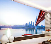 3d Red Overpass Wall Paper Wall Print Decal Wall Deco Indoor Wall Mural