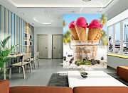 3d Ice Cream Sweet Tube Wall Paper Wall Print Decal Wall Deco Indoor Wall Mural