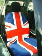 New Red White Blue Union Jack Mini Cooper Seat Armour Front Seat Cover Towel