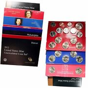 2012 Us Mint Proof And Uncirculated Pandd Presidential Uncirculated - Lot Of 4 Sets