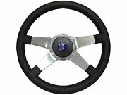 1968 - 1978 Ford Mustang S9 Sport Leather Steering Wheel Pony Kit, Solid 4-spoke