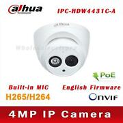 Ipc-hdw4433c-a 4mp 50m Ir Support Poe Built-in Mic Network Dome Ip Dahua Camera