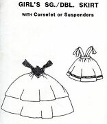 Civil War 1860's Girl's Skirt And Corselet Or Suspenders Period Impressions 306