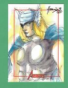 2011 Marvel Avengers Sketchafex Thor Sketch Card By Hanie Mohd El Limited