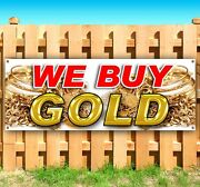 We Buy Gold Advertising Vinyl Banner Flag Sign Many Sizes Available Usa