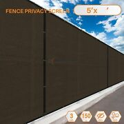 Customize 5and039ft Privacy Screen Fence Brown Commercial Windscreen Shade Mesh Cover