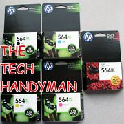 5-pack Hp Genuine 564xl Black And Color Ink Retail Box Photosmart C6340 C6350