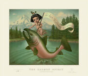 Marion Peck The Salmon Spirit Art Poster Print Lithograph Nature Conservancy